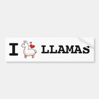 I Llama Llamas Bumper Sticker