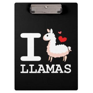 I Llama Llamas Clipboard