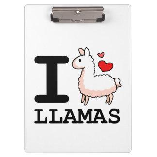 I Llama Llamas Clipboards