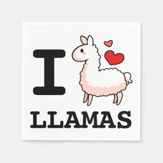 I Llama Llamas Paper Napkin