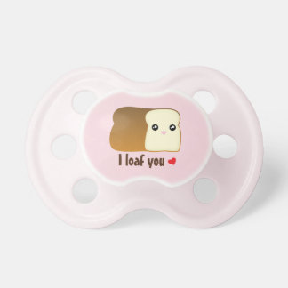 I Loaf You Kawaii Bread Funny Food Pun Unisex Baby Dummy