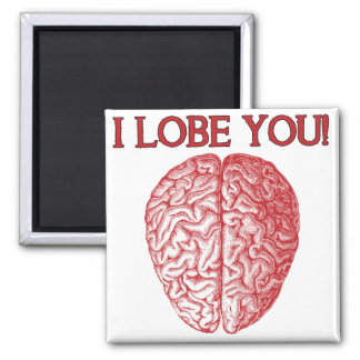 I Lobe You Nerd Geek Love Funny Fridge Magnet