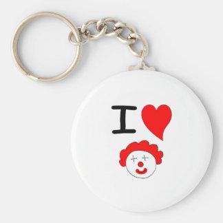 I Loe Clowns Key Ring