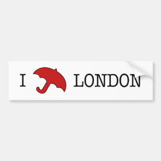 I ☂ London (Bumper Sticker) Bumper Sticker