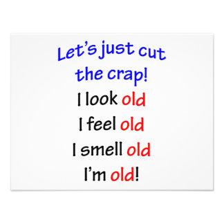 I look old I feel old Custom Invitations