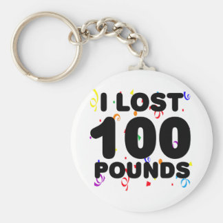 I Lost 100 Pounds Party Basic Round Button Key Ring