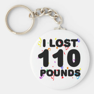 I Lost 110 Pounds Party Basic Round Button Key Ring