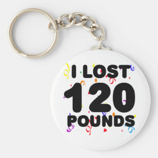 I Lost 120 Pounds Party Basic Round Button Key Ring
