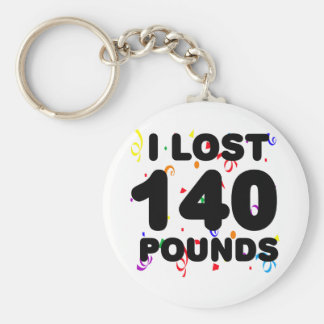 I Lost 140 Pounds Party Basic Round Button Key Ring