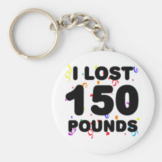 I Lost 150 Pounds Party Basic Round Button Key Ring