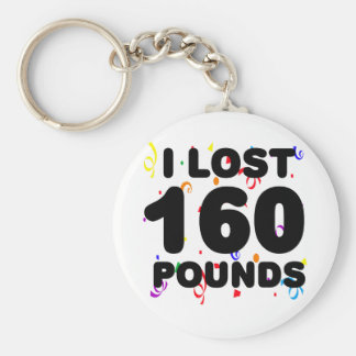 I Lost 160 Pounds Party Basic Round Button Key Ring
