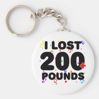 I Lost 200+ Pounds Party Basic Round Button Key Ring