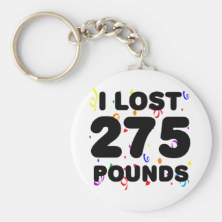 I Lost 275 Pounds Party Basic Round Button Key Ring