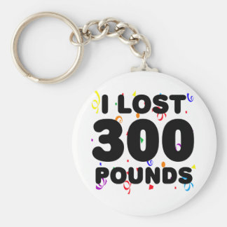I Lost 300 Pounds Party Basic Round Button Key Ring