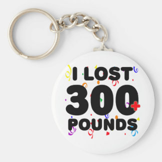 I Lost 300+ Pounds Party Basic Round Button Key Ring