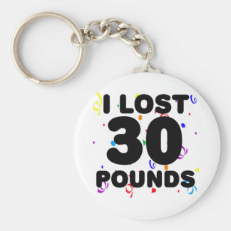 I Lost 30 Pounds Party Basic Round Button Key Ring