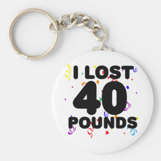 I Lost 40 Pounds Party Basic Round Button Key Ring