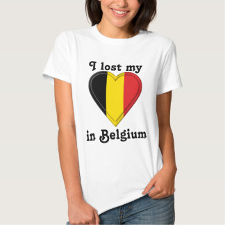 I lost my heart in Belgium T-shirts