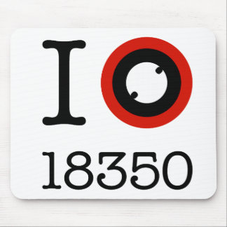 I Love 18350 Li-Ion Batteries Mouse Pad