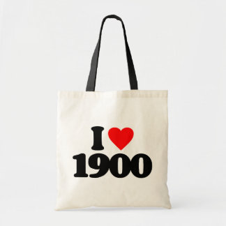 I LOVE 1900 CANVAS BAGS