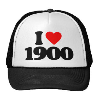 I LOVE 1900 HAT