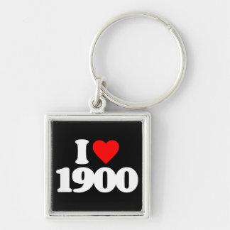 I LOVE 1900 KEYCHAIN