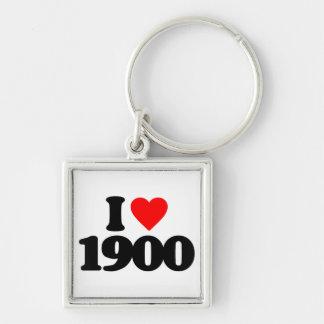 I LOVE 1900 KEYCHAINS