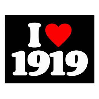 I LOVE 1919 POSTCARD