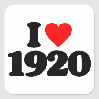 I LOVE 1920 SQUARE STICKER