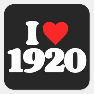 I LOVE 1920 SQUARE STICKER