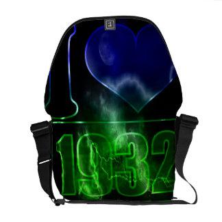 I love 1932 - Magic night vintage - Messenger Bag
