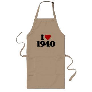 I LOVE 1940 LONG APRON