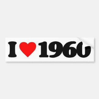 I LOVE 1960 CAR BUMPER STICKER