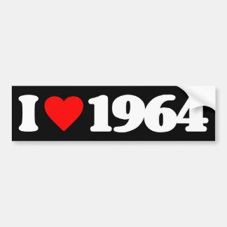 I LOVE 1964 CAR BUMPER STICKER