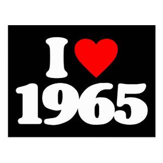 I LOVE 1965 POSTCARD