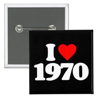 I LOVE 1970 15 CM SQUARE BADGE