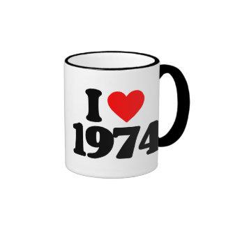 I LOVE 1974 MUGS