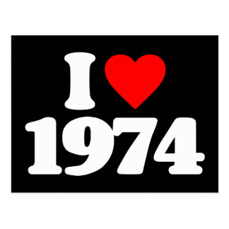 I LOVE 1974 POST CARD