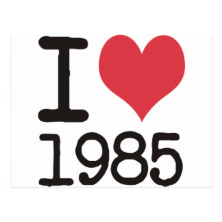 I Love 1985 T-Shirts Products & Designs! Postcard