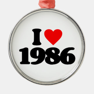 I LOVE 1986 CHRISTMAS ORNAMENT