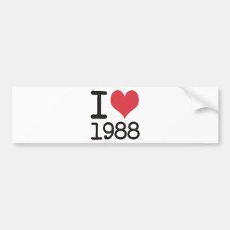 I Love 1988 Products & Designs! Bumper Sticker