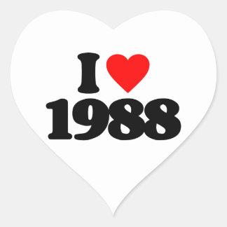 I LOVE 1988 HEART STICKER