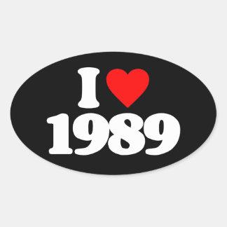 I LOVE 1989 OVAL STICKER