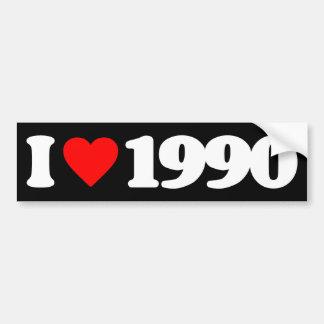 I LOVE 1990 BUMPER STICKER