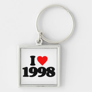 I LOVE 1998 KEYCHAINS