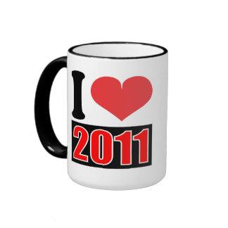 I love 2011 - Mugs