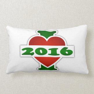 I Love 2016 Throw Cushion