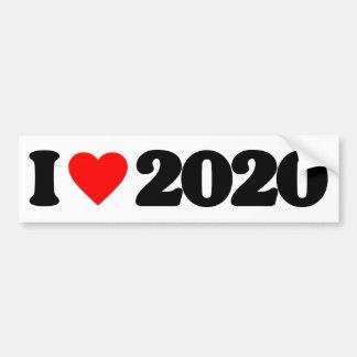 I LOVE 2020 CAR BUMPER STICKER