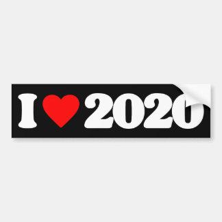 I LOVE 2020 BUMPER STICKER