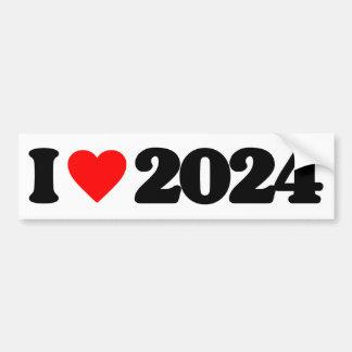 I LOVE 2024 BUMPER STICKER